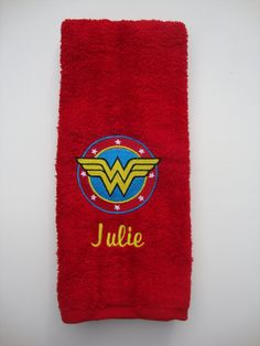 Embroidered Personalized DC comics Wonder Woman Hand golf workout Towel