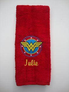 Embroidered Personalized DC comics Wonder Woman by julieshobbyhut, $16.98