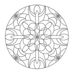 Coloring Mandalas: 10 Temple of the Moon