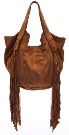 Twelfth Street Cynthia Vincent Berkeley Bag with Fringe in Brown