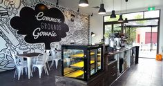 I illustrated and designed an entire wall for Common Grounds Gowrie, a coffee shop located in Canberra, Australia. Hobbies For Women, Coffee Shop Design, Common Ground, Healthy Living Magazine, Cool Cafe, Creative Walls, Round Coffee Table, Shop Interior Design, Wall Design