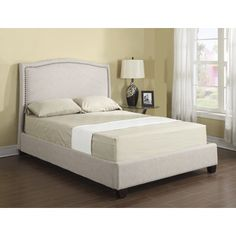 Shop for Emerald Tan Linen Platform Upholstered Bed Set. Get free shipping at Overstock.com - Your Online Furniture Outlet Store! Get 5% in rewards with Club O!