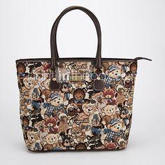 New European printing handbag shoulder bag fashion handbag large capacity - USD $ 30.99