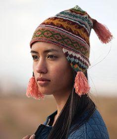 Handmade Luxury Alpaca Chullo Peruvian Ski Cap Hat Natural Fiber Soft Light Wool