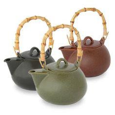 ForLife Bamboo Handle Teapot