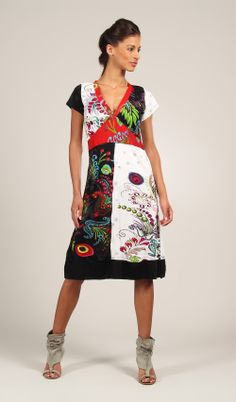 Viscose dress comes in 3 prints.  http://www.allersimplement.com/