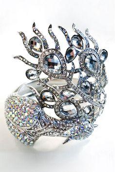 Peacock Cuff Bracelet / Meghan Fabulous