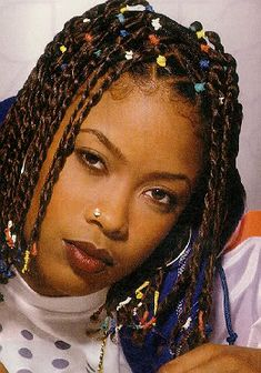 da brat – Bing images - Little black girl hairstyles Baddie Hairstyles, Black Girls Hairstyles, Cute Hairstyles, Old School Hairstyles, Da Brat, Hip Hop Fashion, 90s Fashion, Queer Fashion, Urban Fashion