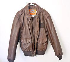 Vintage Cooper Leather Jacket Air Force by LittleRiverVintage