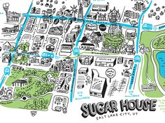 Sugar House map - I want this for my house!