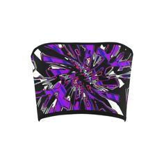 Purple Hypnotic Chrome Bandeau Top – BigTexFunkadelic Bandeau Tops, Psychedelic, Chrome, Seasons, Purple, Stylish, Womens Fashion, Design, Art