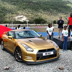 Only one car great enough for the fastest man in the world! #NissanGTR