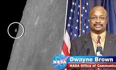 UFO acompanhando o Pouso da Apollo? ou a Lua Rompeu um Pedaço? Qual Explicação da NASA?