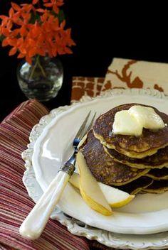 Gluten Free Almond Pear Cadamom Pancakes