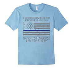 Men's Police Academy Graduation Gifts Police Blue Line Police Gift Royal Blue Police Officer Gifts, Police Gifts, Cute Tshirts, Funny Shirts, Tee Shirts, Blue Line Police, Police Academy, Unicorn Shirt, Branded T Shirts
