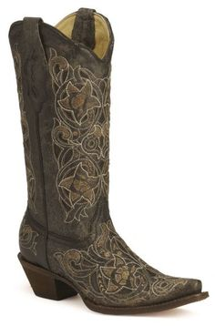 Corral laser cutout cowgirl boots available at #Sheplers