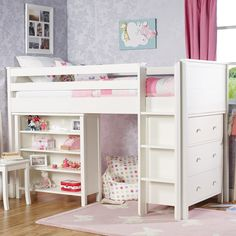 QUICK SHOP: Islander Mid Sleeper Bed Frame with the Islander Chest of Drawers & the Islander Bookcase - Cabin & Mid Sleeper Beds - Beds & Mattresses