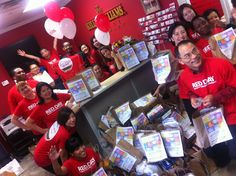 Keller Williams Landmark Realty collected 215 bags of donations and over 1,200 pounds of food for Red Day 2012!