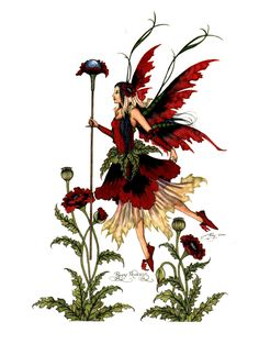 Amy Brown Poppy Princess Fairy Print