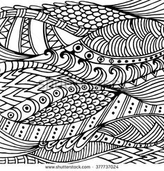 Doodle Back In Vector With Doodles Flowers And Paisley Coloring Book Page For Adults Zendala Relax Meditation Isolated On White