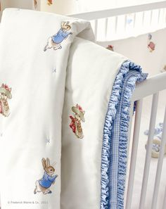 Trendy Ideas For Baby Room Wallpaper Beatrix Potter Beatrix Potter Fabric, Tales Of Beatrix Potter, Beatrix Potter Nursery, Baby Nursery Wallpaper, Room Wallpaper, Nursery Room, Girl Nursery, Bunny Nursery, Nursery Decor