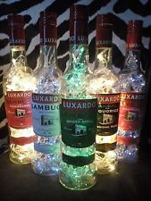 DIY Bottle Lamp Luxardo Sambuca Various Flavours Upcycle Shots Recycle Lights
