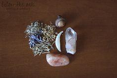 Fox Magic. Suede pouch of herbs and stones. Fox tooth, acorn, quartz, sunstone, lavender, mugwort, yarrow, and rosemary. Fox totem.. $25.00, via Etsy.