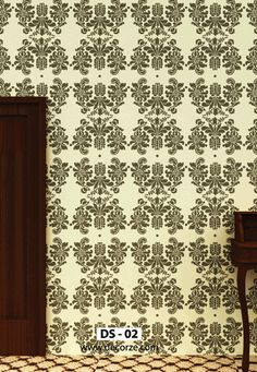 Wall Painting Stencils Designs for decor your wall Damask Wall, Damask Stencil, Geometric Stencil, Stencil Painting On Walls, Free Stencils, Stencil Designs, Beautiful Wall, Interior Walls, Animal Print Rug