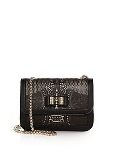 Christian Louboutin Sweet Charity Small Sparkle Laser-Cut Shoulder Bag | 2695