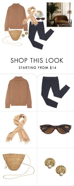 """""""Caramel"""" by anukij ❤ liked on Polyvore featuring Mansur Gavriel, Persol and Juicy Couture"""