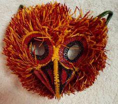 Wounaan Embera Chunga Mask Owl-Panama 16073017L