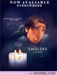 "The Ad For Flynn Rider's ""Smolder"" Perfume…"