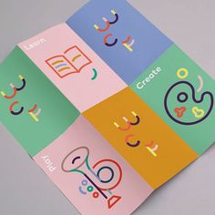 Norway-based Eric Rohter's rebrand for the World Children's festival is a sweet, candy coloured identity that uses simple curved shapes for an adaptable typeface and clear, communicative language tailored towards its audience. See some more of his work on the site right about now. #itsnicethat #graphicdesign