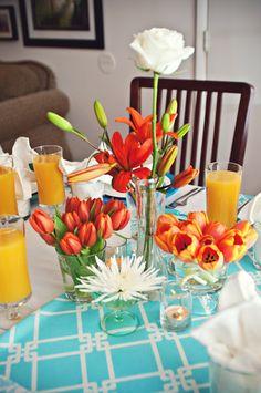 dc gourmet club.  Eclectic floral arrangements.  Spring Party