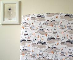 Crib Sheet  Indian Summer  Woodland in Oak  Baby by FernLeslieBaby