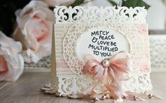 Card Making Ideas by Becca Feeken using Spellbinders Graceful Damask Border, Spellbinders Oval Regalia - see full supply list at www.amazingpapergrace.com