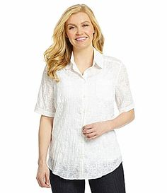Allison Daley II ButtonUp Floral Woven Shirt #Dillards