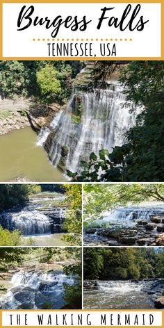 Looking for some Tennessee hiking trails? This short waterfall trail will take you to four waterfalls including the iconic Burgess Falls. One of my favorite Tennessee vacation spots ever! Only about an hour from Nashville, TN. Tennessee Hiking, Tennessee State Parks, Tennessee Vacation, Cummins Falls Tennessee, Cruise Travel, Travel Usa, Nashville Trip, Nashville Tennessee, Tennessee Usa