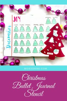 Create stunning December bullet journal layouts - even if you can't draw. This stencil ups your creative abilities and helps you make the layouts of your dreams. #bulletjournal #christmas