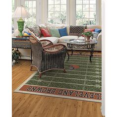 Milliken & Company Tennessee Titans x Homefield Area Rug. Ideal for the man cave Go Browns, Woman Cave, Man Room, Outdoor Furniture Sets, Outdoor Decor, My New Room, Area Rugs, Design