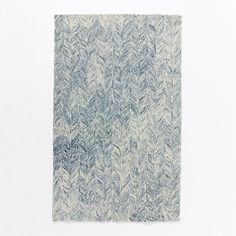 Vines Wool Rug - Blue Lagoon   west elm
