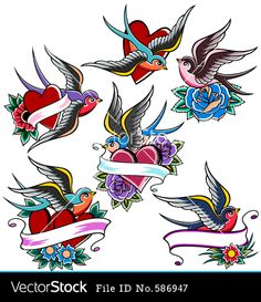 vintage swallow tattoo - Google Search