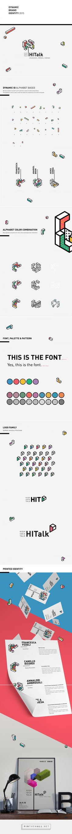 HITALK - Dynamic Brand Identity on Behance. - a grouped images picture - Pin Them All Brand Identity Design, Graphic Design Branding, Corporate Design, Logo Branding, Logo Typo, Dynamic Logo, Web Design, Bussiness Card, Co Working
