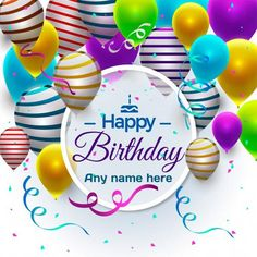 Online Wish Happy Birthday Wishes Greeting Cards With Name Pic Free Download Card Images Edit And Shares Facebook