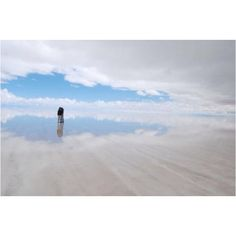 The largest salt flats in the world, Salar de Uyuni, Bolivia. During the rainy season the water turns into the world largest mirror. Also known as the Border between Heaven and Earth.