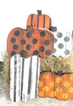 Rustic Pumpkins Fall Decor Wood Pumpkin by PaePaesPlace on Etsy