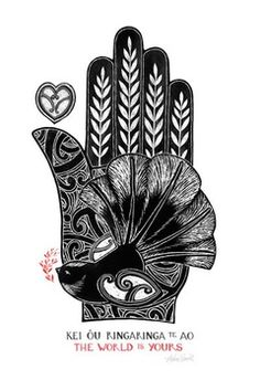 World is Yours - a little fantail (Piwakawaka) alights. By Nelson artist, Amber Smith. Maori Designs, Nz Art, Art For Art Sake, New Zealand Art, Maori Art, Kiwiana, Giclee Print, Linocut Prints, Fine Art Prints