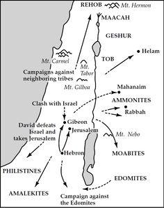Map of 2 Samuel