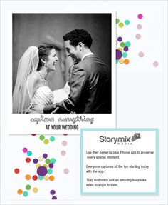 Storymix Media makes it super fun to capture your wedding. http://www.storymixmedia.com/