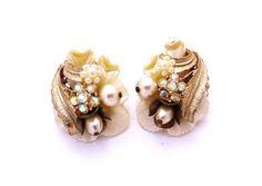 Vintage Earrings Miriam Haskell Style Pearl by IfindUseekVintage